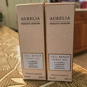 Lot of two 15ml Aurelia Cell Repair Night Oil
